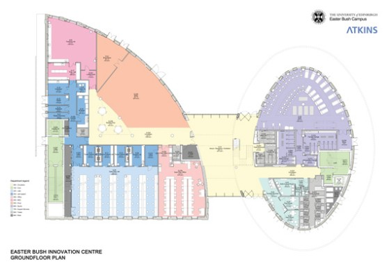 Ground Floor Plan of the Roslin Innovation Centre
