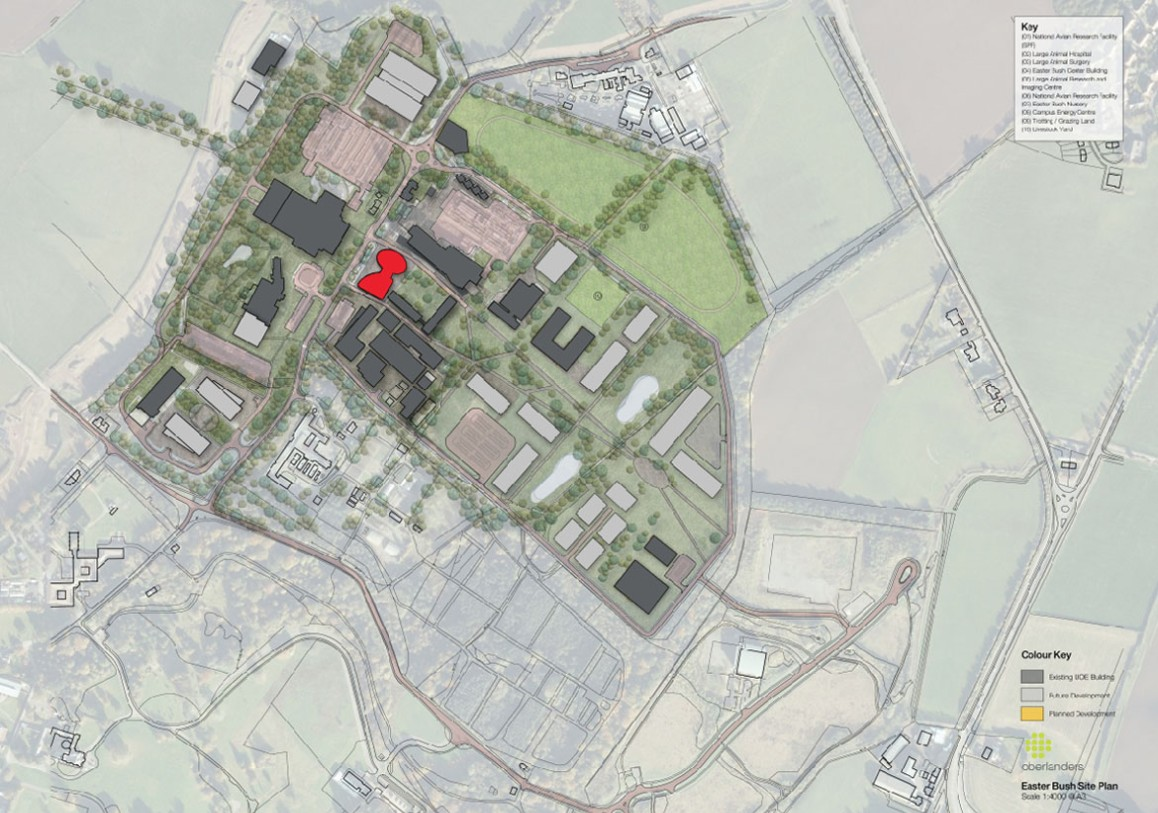 Map of the Roslin Innovation Centre and Campus