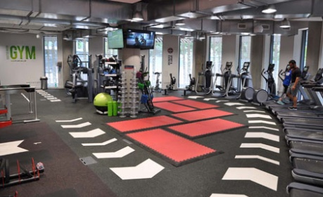 Artist impression of the gym in the Campus Hub
