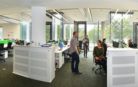 Photo of Synpromics in open plan offices at Roslin Innovation Centre